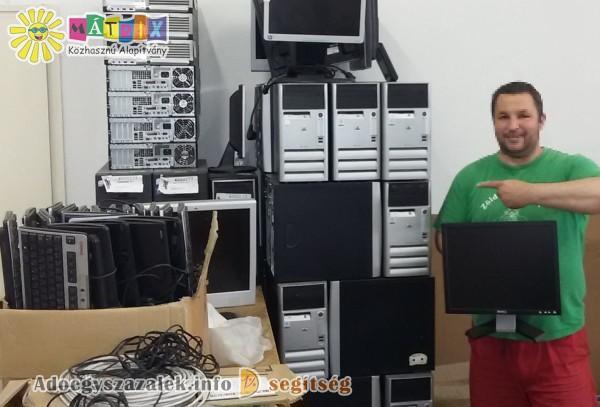 Számítógépekkel támogattunk nagycsaládosokat az adóegyszázalék felajánlásoknak is köszönhetően