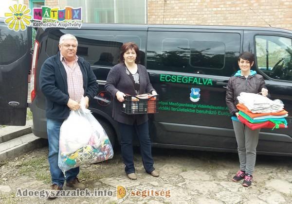 A felajánlott adóegyszázalékoknak köszönhetően más településeknek is juttattunk segítő adományt