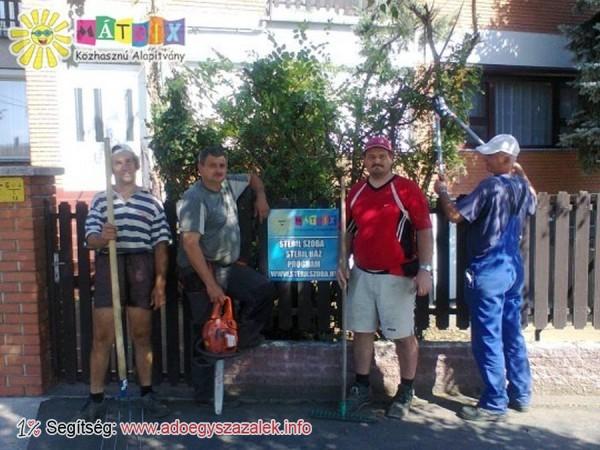 Önkéntesek szépítették meg a Mátrix Sterilház kertjét
